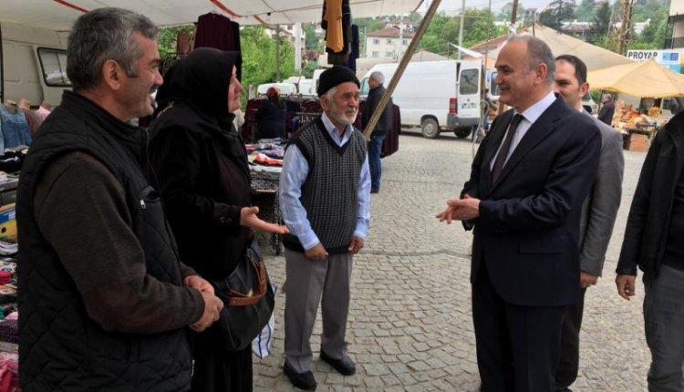 BAŞKAN ÖZLÜ KONURALP'TE SORUNLARI DİNLEDİ !