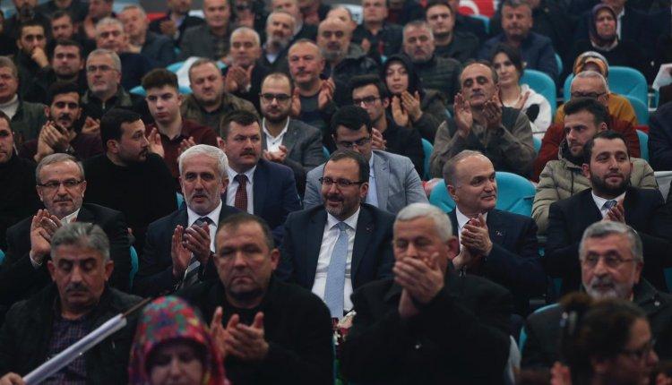 BAKAN KASAPOĞLU, DÜZCE GENİŞLETİLMİŞ DANIŞMA MECLİSİ TOPLANTISI'NA KATILDI