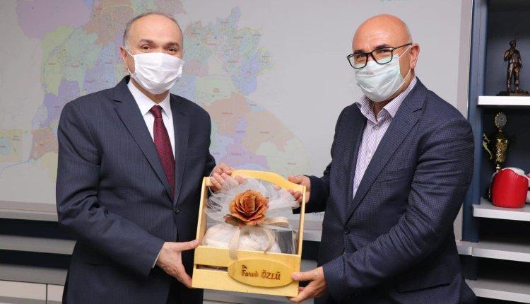 CHP'DEN BAŞKAN ÖZLÜ'YE ZİYARET!